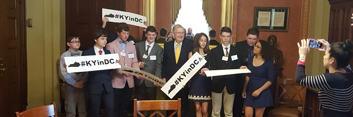 The AMS Solve for Tomorrow team met with Senator Mitch McConnell in Washington D.C. on Wednesday 5/16/18.