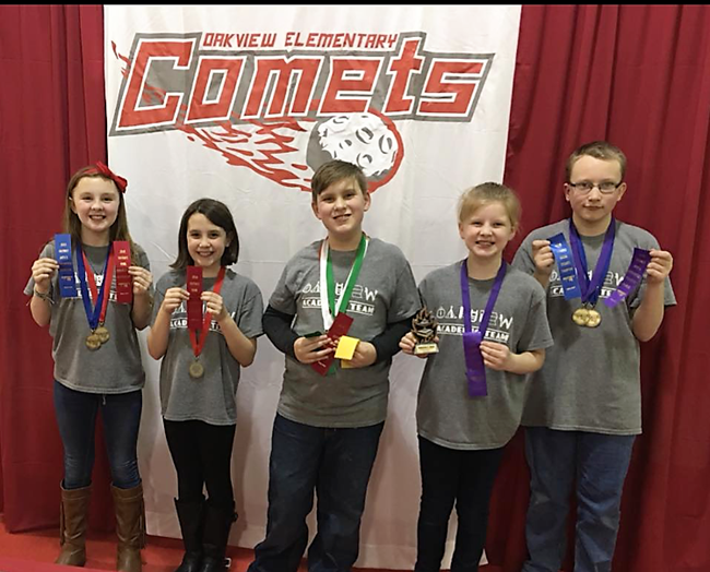 Oakview Academic Team Winners