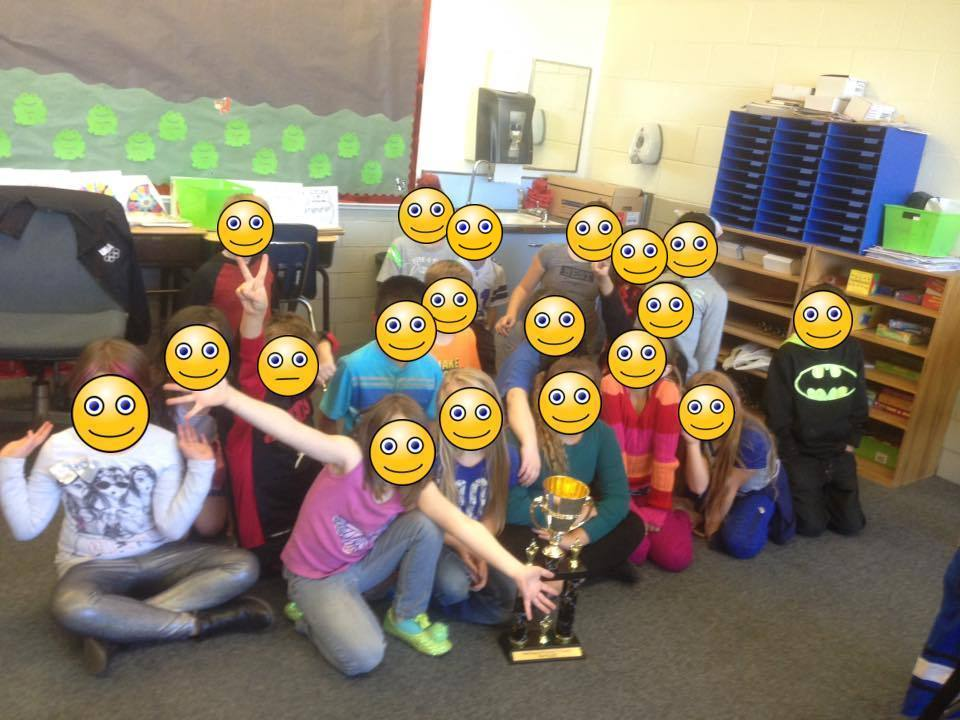 Mrs. Runyon's Class with the House Cup