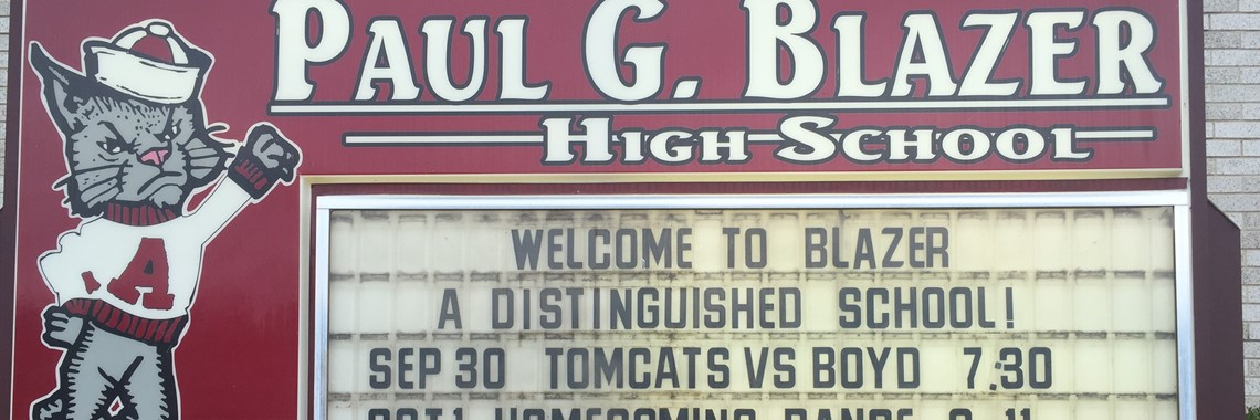 Paul Blazer High School earns a Distinguished rating on the 15-16 state assessment.