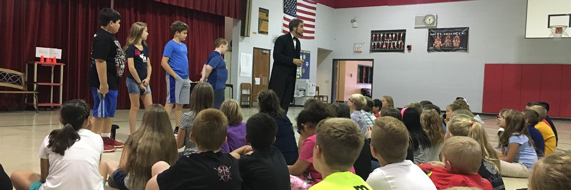 Abe Lincoln visits Hager