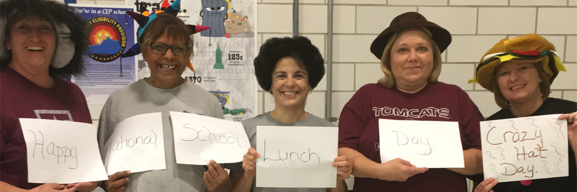 The staff at Crabbe Elementary celebrate National School Lunch week.