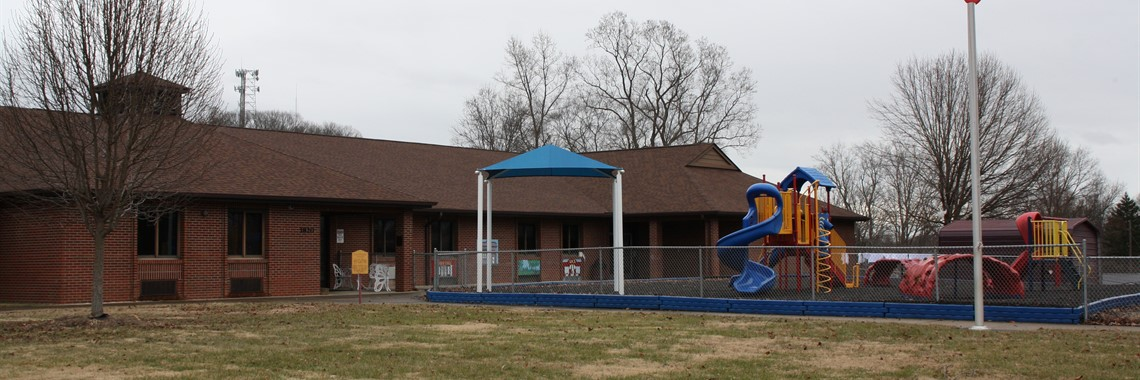 Ashland Exceptional Early Childhood Center building and playground.