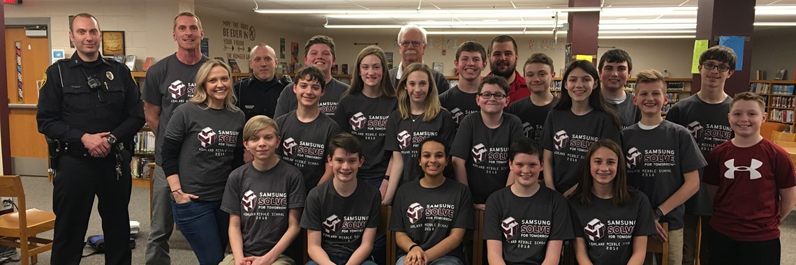 Congratulations to Ashland Middle School for being named a National Top 10 Finalist in the Samsung Solve for Tomorrow Competition.