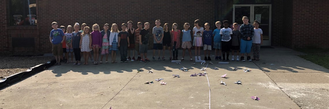 Miss Royalty's class in STEM, flying gliders.